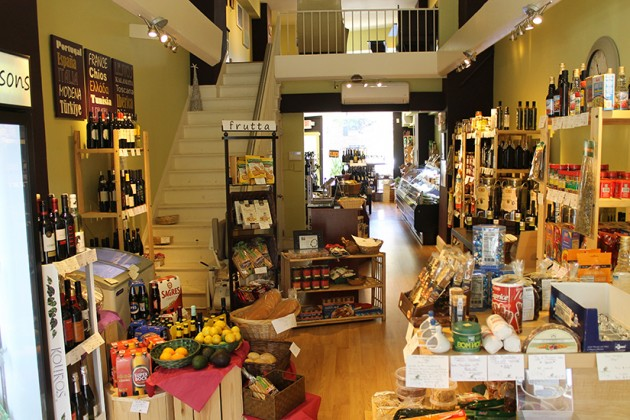 The store also sells a variety of olive oils and fresh foods