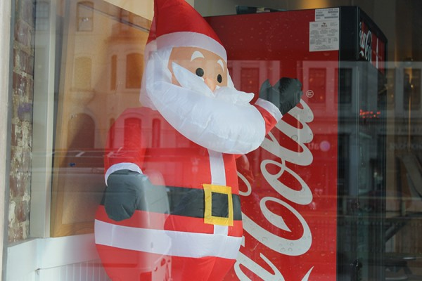 Dupont Santa in window