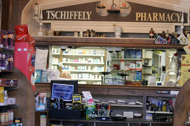 Interior of Tschiffely Pharmacy