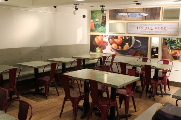 The eatery also has an upstairs seating area