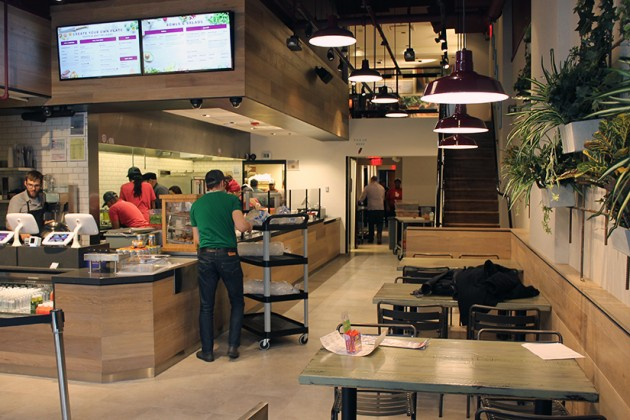 Customers can order from a menu of bowls and salads