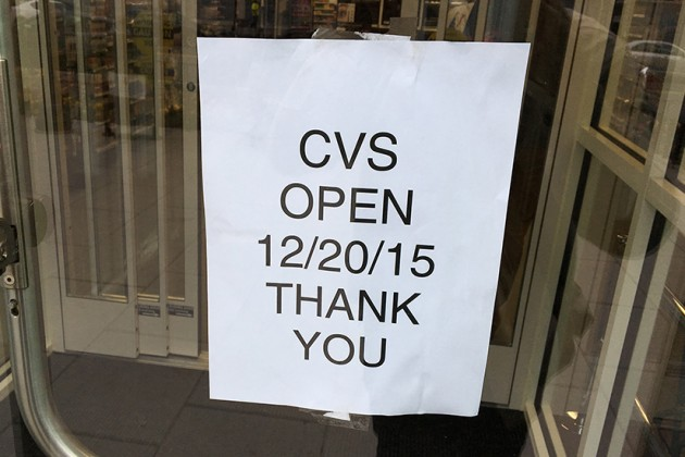 The CVS will open this Sunday