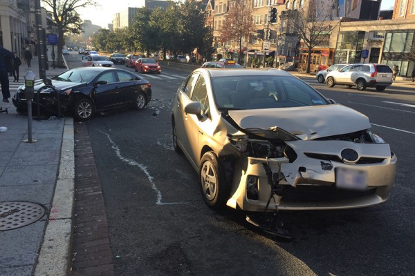Car crash on Connecticut Ave