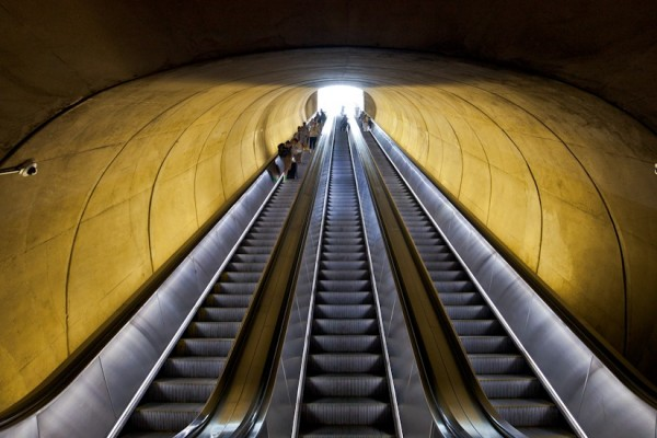 Dupont Metro station escalators