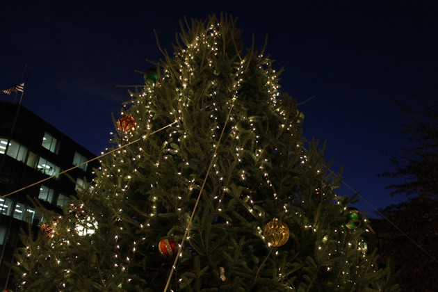 The Dupont holiday tree at 1701 Connecticut Ave. NW