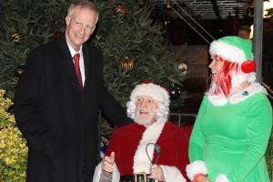 Jack Evans and Santa