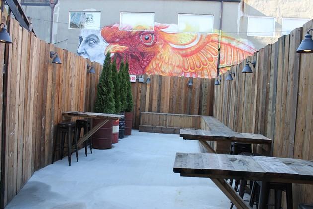The bar also has an outdoor patio