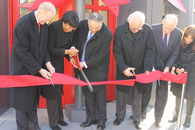 The location was officially opened with a ceremonial ribbon-cutting