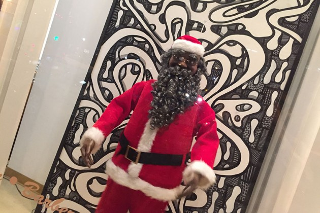 Wanda's on 7th Salon & Spa's dancing Santa at 1851 7th St. NW