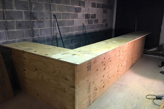 The new basement bar is currently under construction and is set to open in February