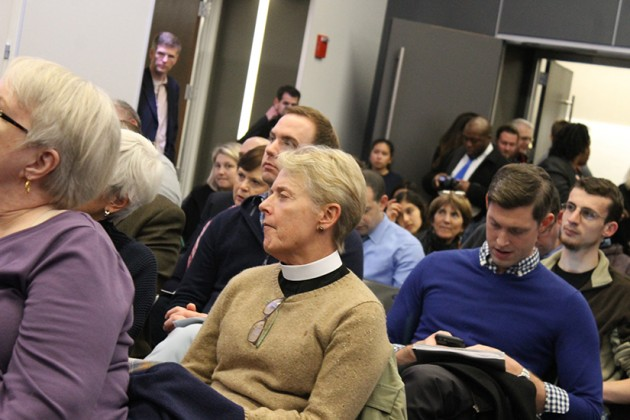 Neighbors came to the meeting to ask questions and share concerns