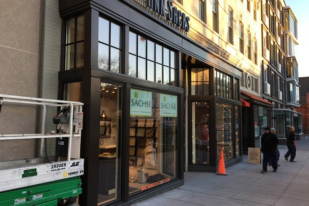 The tile and stone showroom is located at 1629 14th St. NW