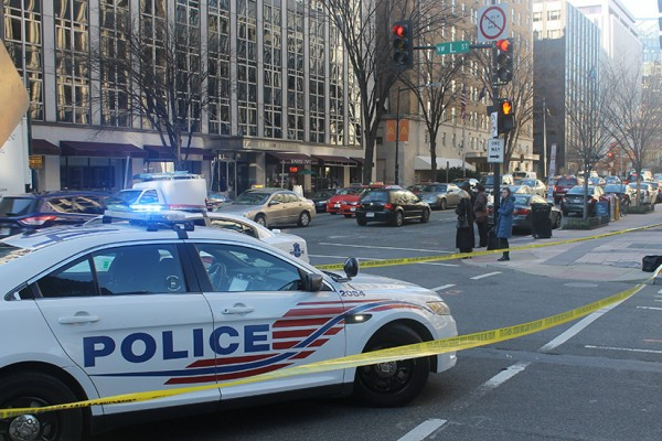 Pedestrian struck near 17th and L streets NW on Monday, Jan. 11, 2016