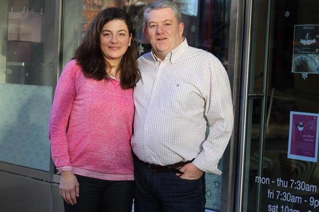 Aude (left) and Francois Buisine