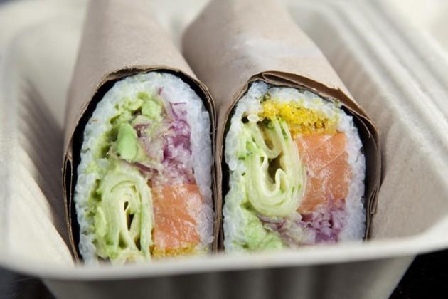 Buredo specializes in burrito-sized sushi rolls