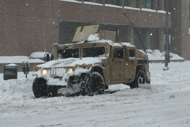 Humvee on 14th Street NW