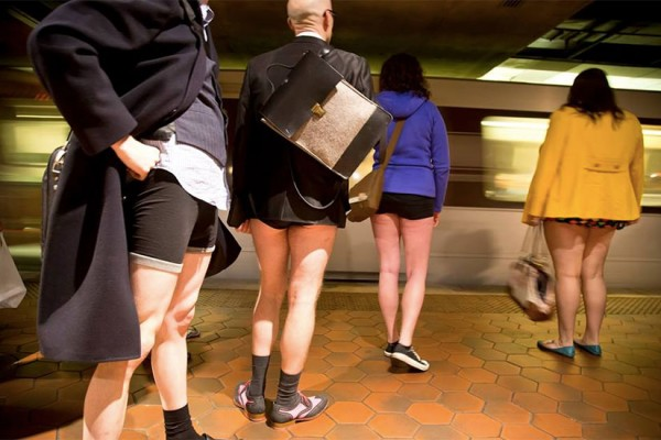 No Pants Subway Ride DC (Photo via Facebook/Capitol Improv)