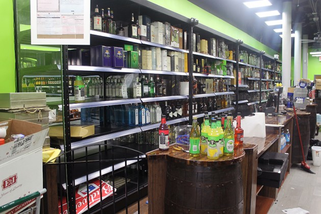 Inside the new Barrel House Liquors store