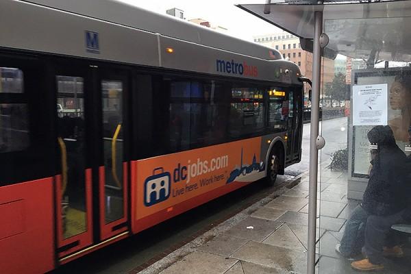 Rainy day bus