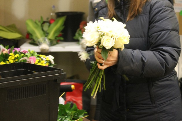 The shop has plans to sell thousands of bouquets this weekend alone