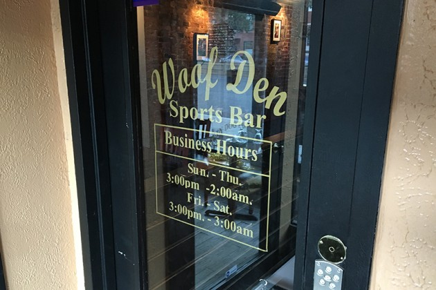 Woof Den Sports Bar is located below Salty Dog Tavern at 1723 Connecticut Ave. NW