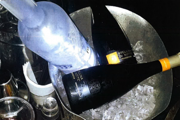 This bottle service ended up costing The Huxley $5,000 / Photo via ABRA