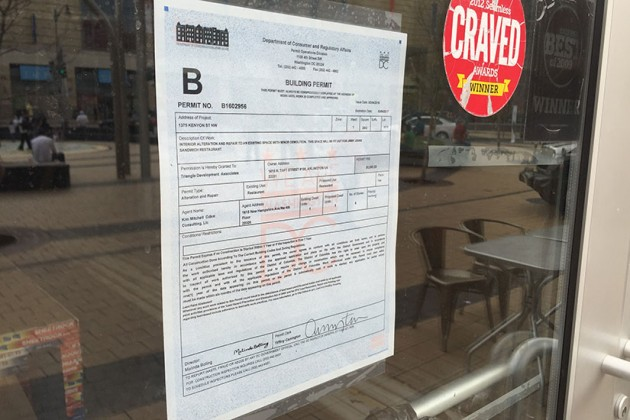 Jimmy John's construction permit