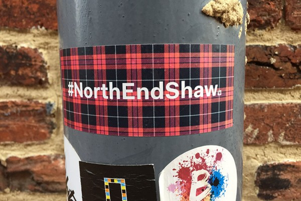 North End Shaw sticker