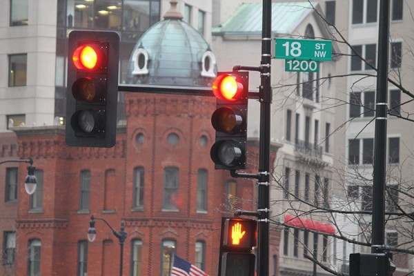 18th Street stoplights