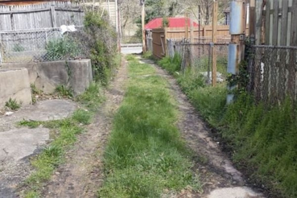 Alley near 444 Park Road NW (Photo via District Department of Transportation)