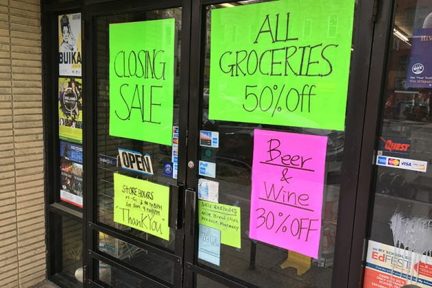 The store will discount much of its inventory until it closes on May 2
