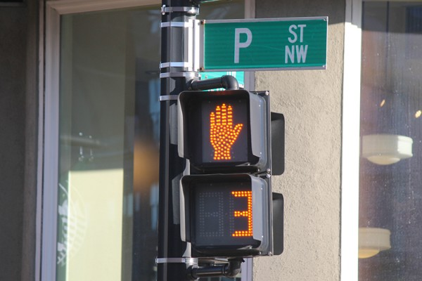P Street Walk Sign BRIEF