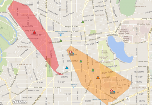 Power outage reported by Pepco, 4:11