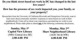 Sex work focus group flyer
