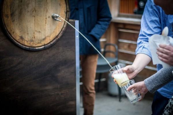 Txotx Barrel Cider Stream, photo by Farrah Skeiky