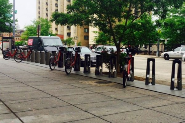 Capital Bikeshare dock at 14th and Girard streets NW (Photo via Twitter/Capital Bikeshare)