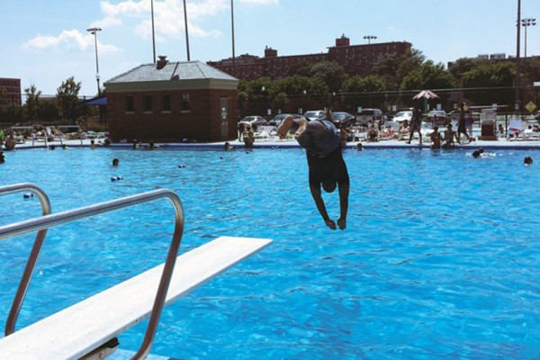 D.C. Department of Parks and Recreation Director Keith Anderson at Banneker Pool (Photo via DPR)