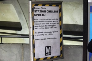 Dupont Chillers update sign