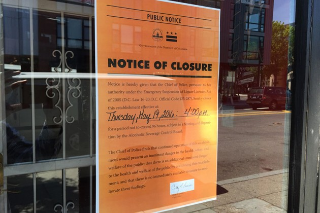 Karma Lounge and Bar closure notice