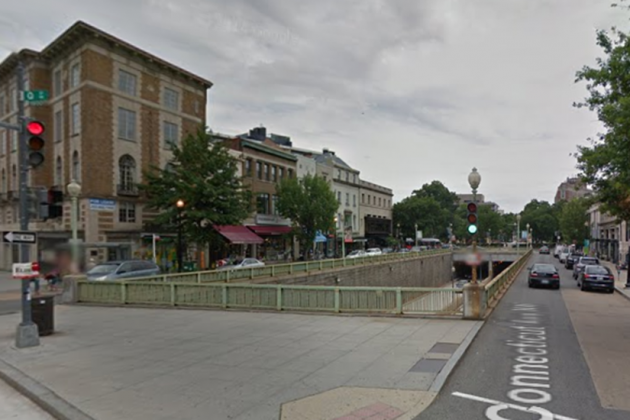 The sunken stretch of Connecticut Ave. NW, photo via Google Street View