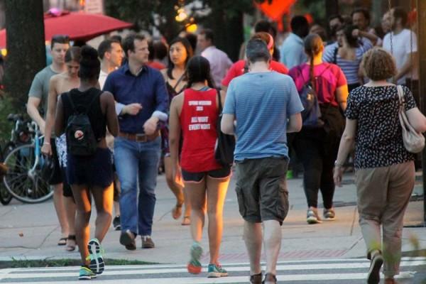 Crowd on 14th Street