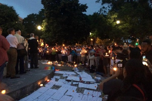 Dupont Circle vigil on June 15, photo courtesy of Capital Pride
