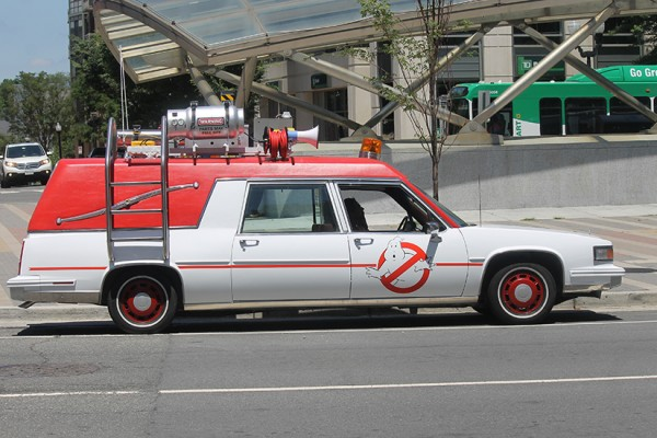 Ghostbusters Car Ecto-1 at Clarendon Metro