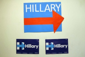Hillary sign at 19th Street Clinton office