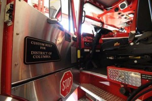 Inside of a fire truck, photo via Twitter : DC Fire and EMS