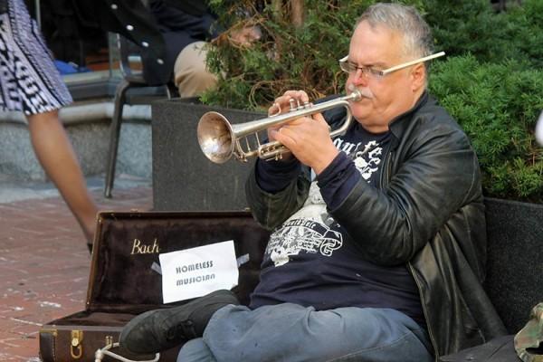 Trumpeter at Dupont Circle Metro BRIEF