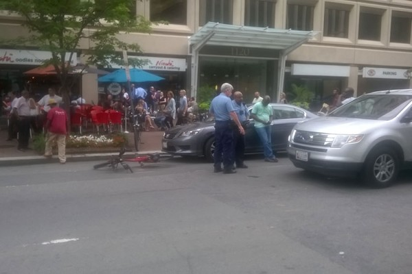 Cyclist struck on June 28, 2016 on 19th Street NW