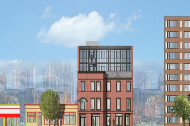 A rendering filed in April shows one possibility for the new development