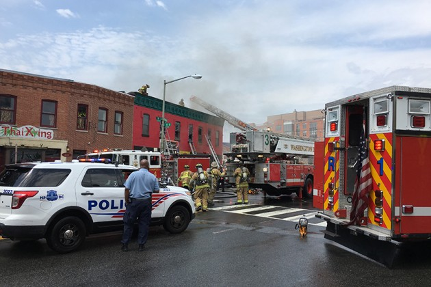 Firefighters rushed to the scene around 1:10 p.m today