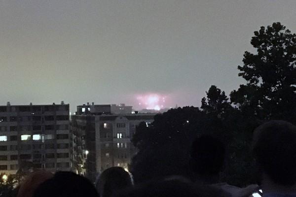 Fireworks Meridian Hill Park 2016